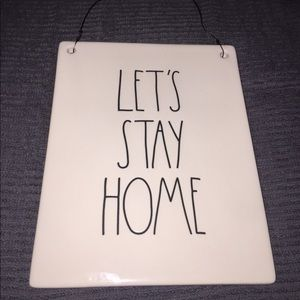 """Rae Dunn """"Let's Stay Home"""" Sign/Plaque"""